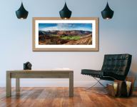 The Green Fields of Borrowdale - Framed Print with Mount on Wall