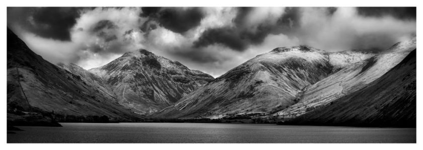Great Gable and Lingmell - Black White Print