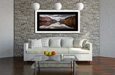 Thirlmere Late Autumn - Framed Print with Mount on Wall