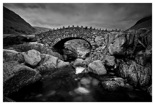 Stockley Bridge - Black White Print