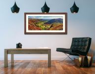 The Great Langdale Valley - Framed Print with Mount on Wall