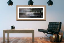 Hartsop Misty Morning - Framed Print with Mount on Wall