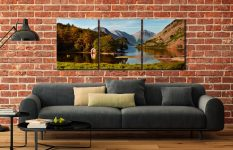 Wast Water Boathouse - 3 Panel Canvas on Wall