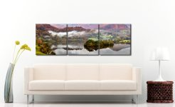 Grasmere Autumn Mists - 3 Panel Canvas on Wall