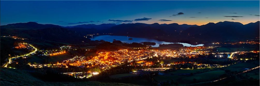 Keswick at Night - Canvas Print
