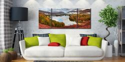 Trees of Grasmere - 3 Panel Wide Mid Canvas on Wall