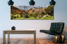 Summer Greens of Langdale - 3 Panel Canvas on Wall