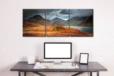 Darkness and Light at Wast Water - 3 Panel Canvas on Wall