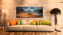 Darkness and Light at Wast Water - Canvas Print on Wall