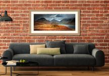 Darkness and Light at Wast Water - Framed Print with Mount on Wall