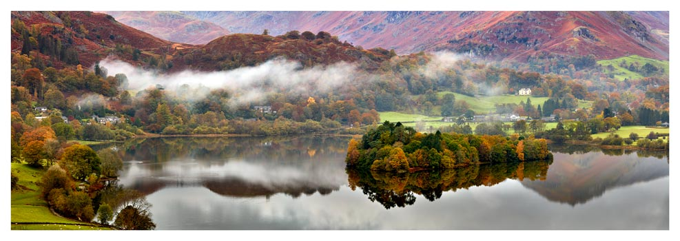 Grasmere Autumn Mists - Lake District Print