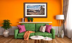 Eskdale Needle in Winter - Framed Print with Mount on Wall