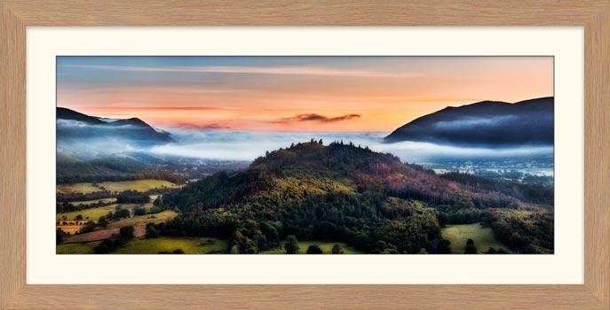 Dawn Mists Over Bassenthwaite Lake - Framed Print