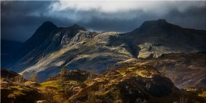 Darkness and Light on the Langdales - Lake District Canvas