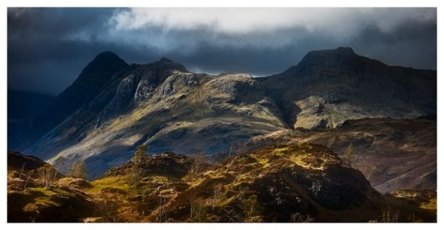 Darkness and Light on the Langdales - Lake District Print