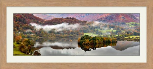 Grasmere Autumn Mists - Framed Print with Mount