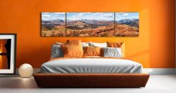 The Langdale Mountains - 3 Panel Wide Centre Canvas on Wall