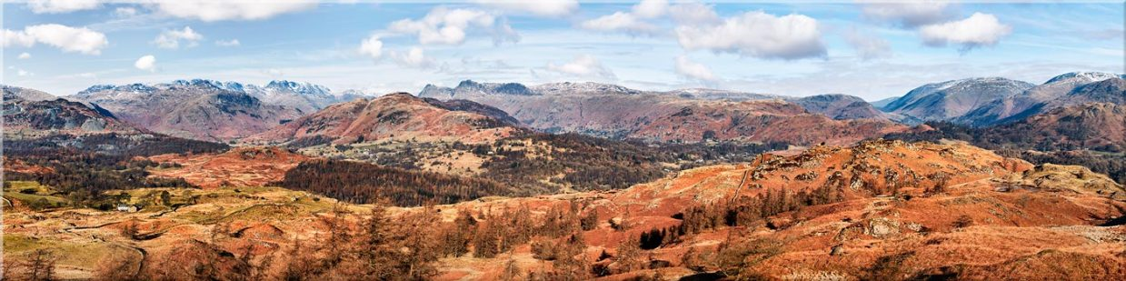 The Langdale Mountains - Canvas Prints