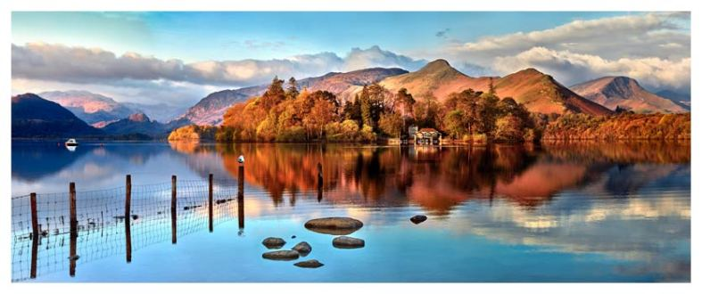 Derwent Water Panorama - Lake District Print