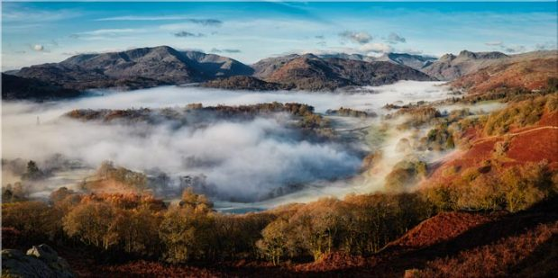 Great Langdale Misty Morning - Canvas Print