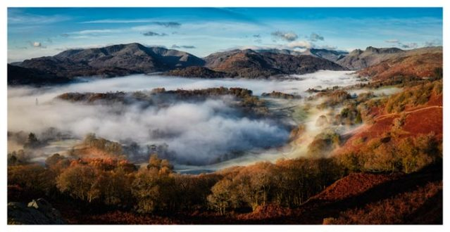 Great Langdale Misty Morning - Lake District Print