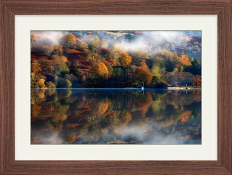 Rydal Water Autumn – Framed Print with Mount