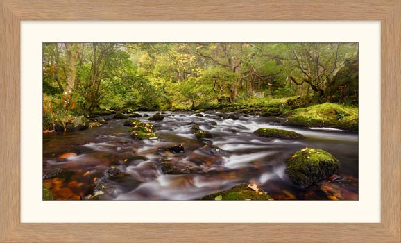 Start of Autumn River Rothay - Framed Print with Mount