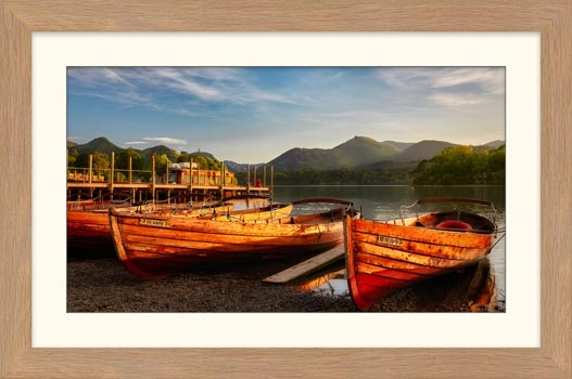 Golden Boats Keswick - Framed Print with Mount