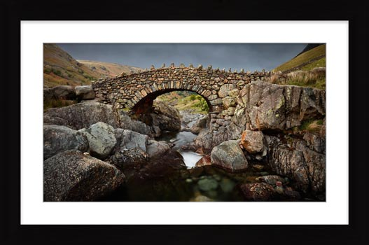 Grey Day Stockley Bridge - Framed Print with Mount
