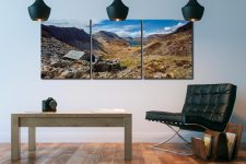 Warnscale Bothy and Buttermere Valley - 3 Panel Canvas on Wall