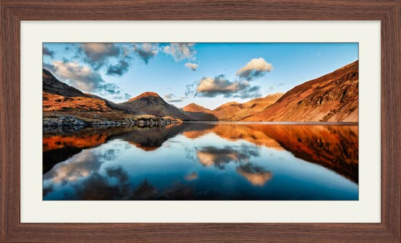 Golden Light Over Wast Water - Framed Print with Mount