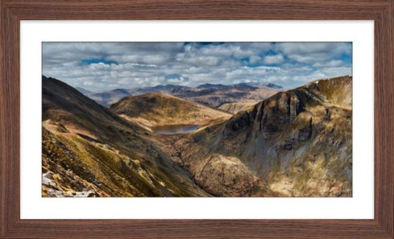 Grisedale Tarn Panorama - Framed Print with Mount
