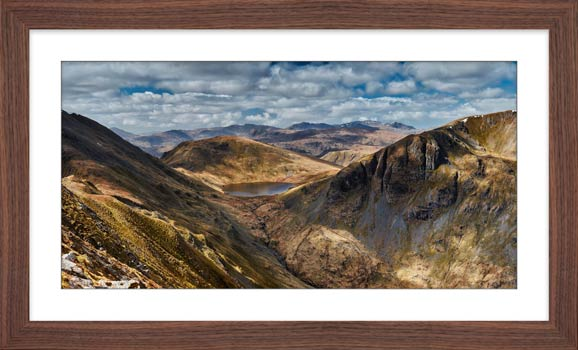 Grisedale Tarn Panorama - Framed Print