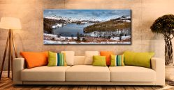 Grasmere Winter Panorama - Canvas Print on Wall