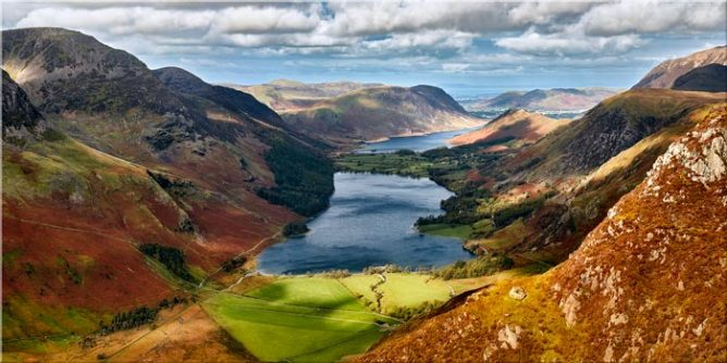 Buttermere From Fleetwith Pike - Lake District Canvas