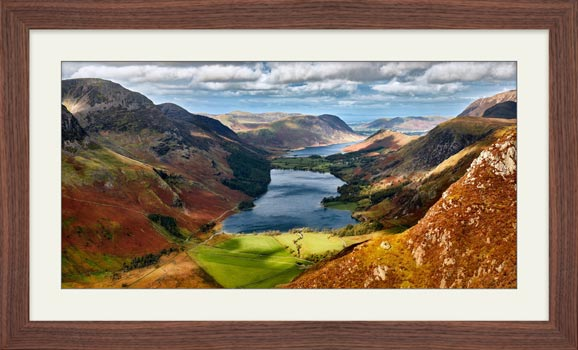 Buttermere From Fleetwith Pike - Framed Print with Mount