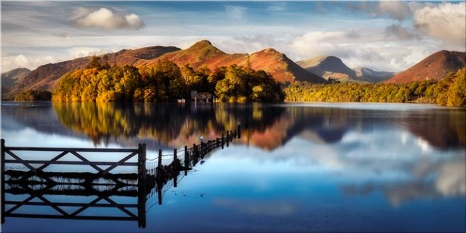 Derwent Water Gate - Lake District Canvas