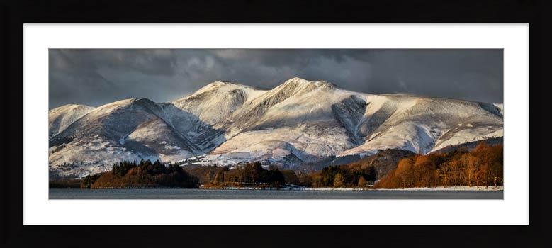 Skiddaw Winter Panorama - Framed Print