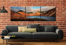 Wast Water Late Sun - 3 Panel Canvas on Wall