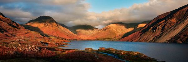 Wast Water Late Sun - Canvas Print