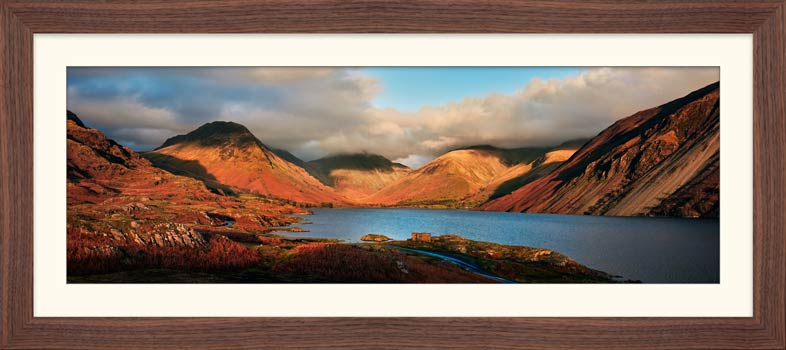 Wast Water Late Sun - Framed Print with Mount