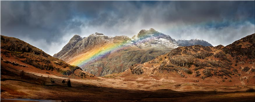 Langdale Pikes Rainbow - Lake District Canvas