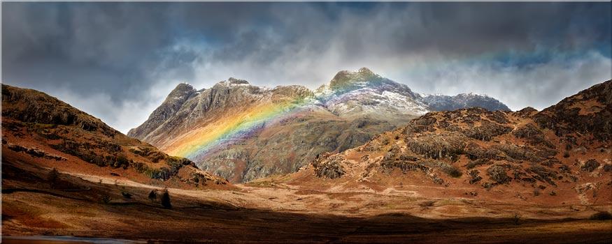 Langdale Pikes Rainbow - Canvas Print