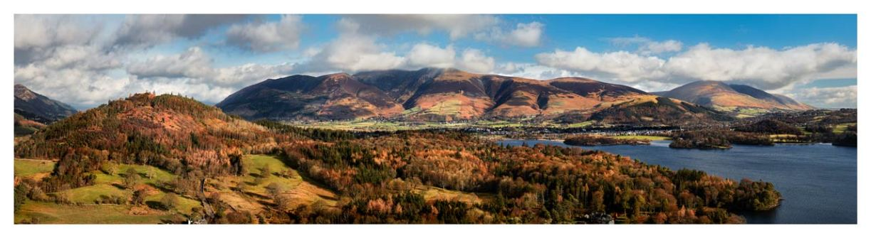 Keswick and Skiddaw Panorama - Lake District Print