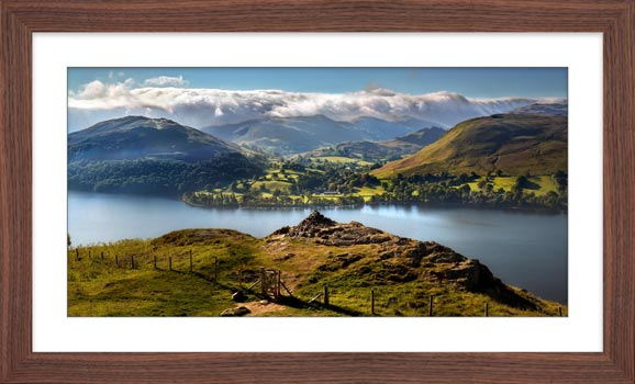 Gowbarrow to Martindale - Framed Print with Mount