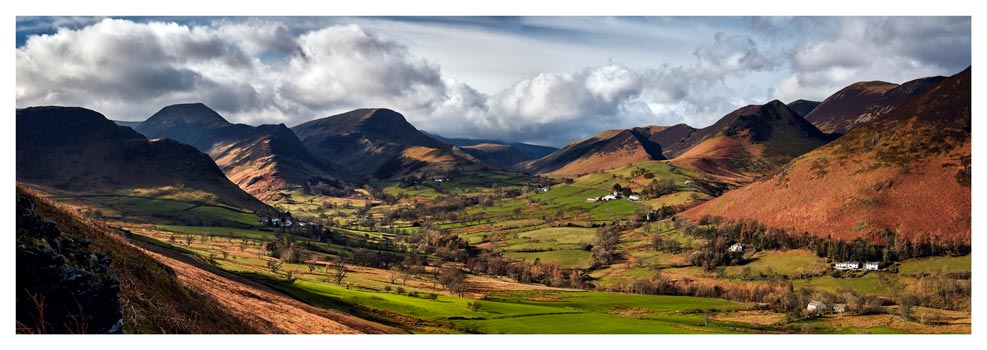 Newlands Valley Spring Sunshine - Prints of Lake District