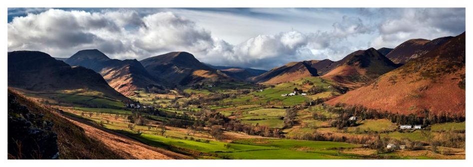 Newlands Valley Spring Sunshine - Lake District Print