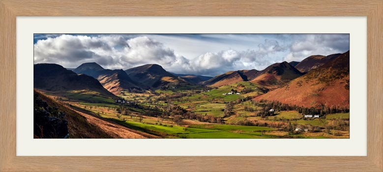 Newlands Valley Spring Sunshine - Framed Print