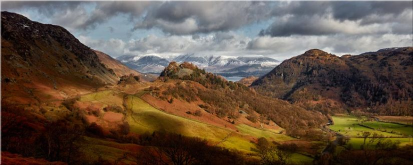 Castle Crag Winter Sunshine - Lake District Canvas
