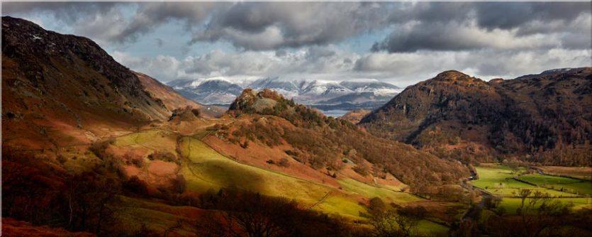 Castle Crag Winter Sunshine - Lake District Canvas